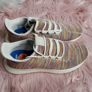 Adidas Womens Size 8 Rainbow Knit Tubular Shadow